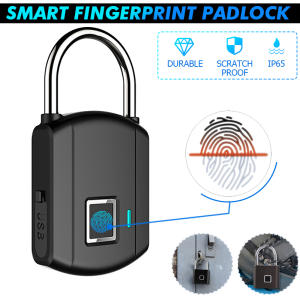 Padlocks Smart Keyless Biometric Thumbprint-Door Quick-Unlock USB 508DPI Rechargeable