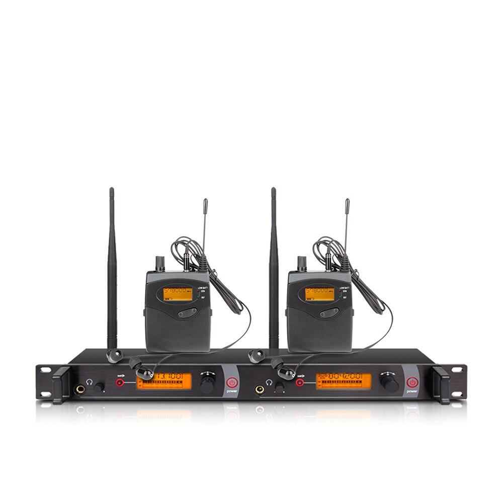 Ohr überwachung wireless system mit 2 empfänger EM2050 bühne monitor ear monitoring system 2 ear monitoring system