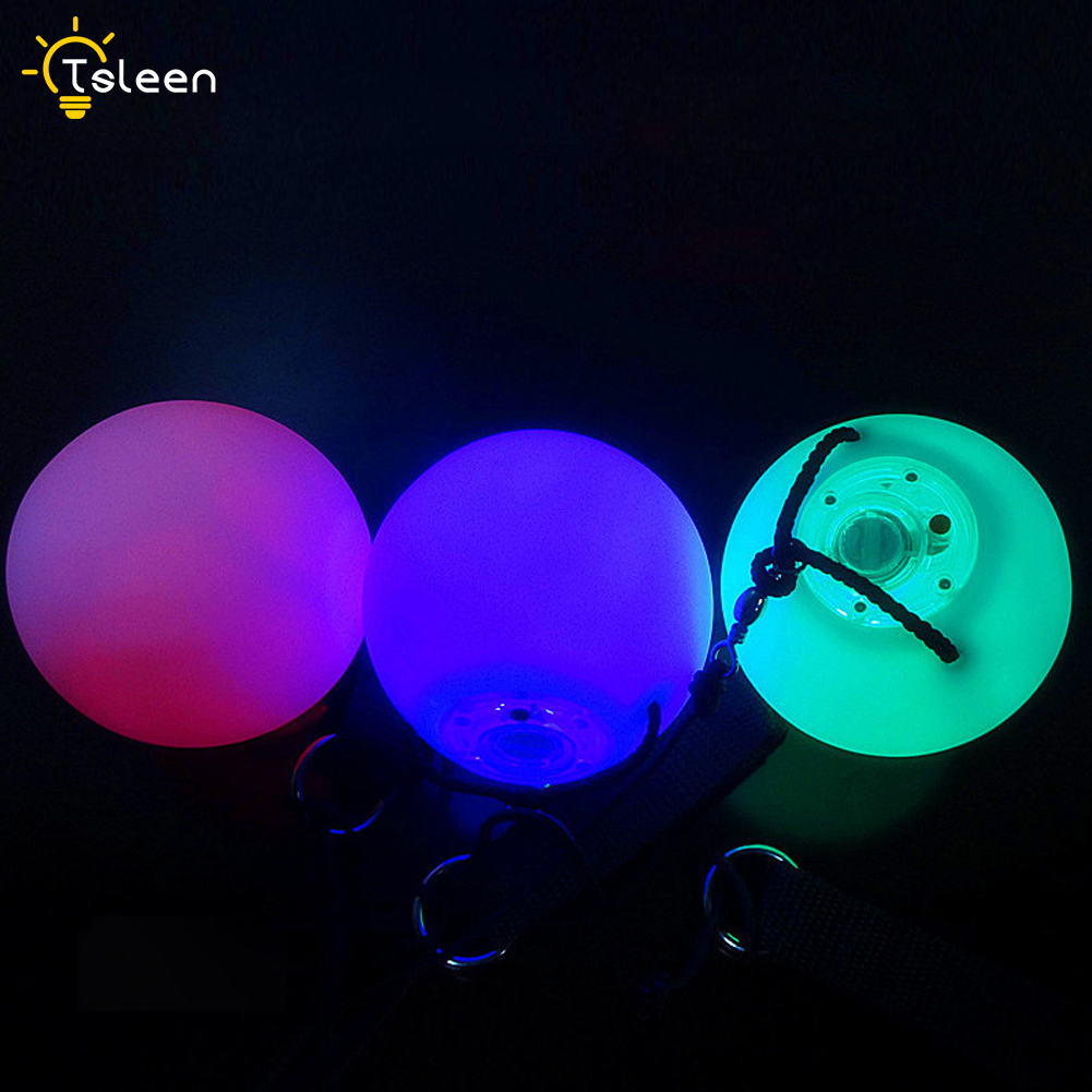 1 pair = 2 pieces Selling Professional Balls RGB LED RGB POI Thrown Balls belly dance Level Hand stage performance accessories