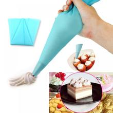 Hot New 1pcs Confectionery Bag Silicone Icing Piping Cream Pastry Bag Nozzle DIY Cake Decorating Baking Decorating Tools Dropshi