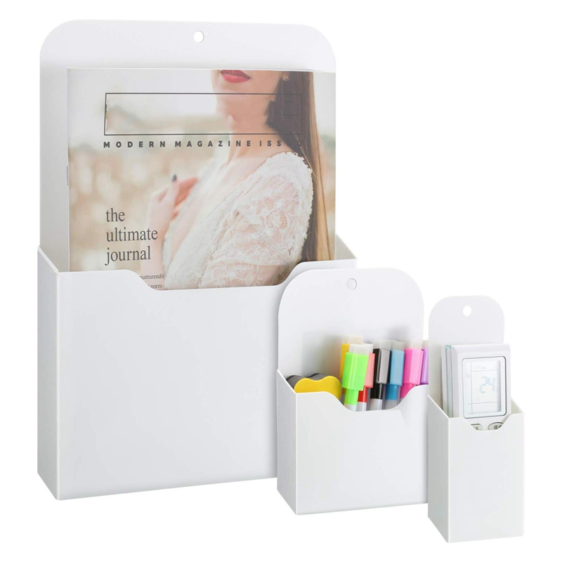 3 Pack Magnetic File Holder, Large Size Refrigerator Storage Pocket For Class Whiteboard, Office, Refrigerator, Locker