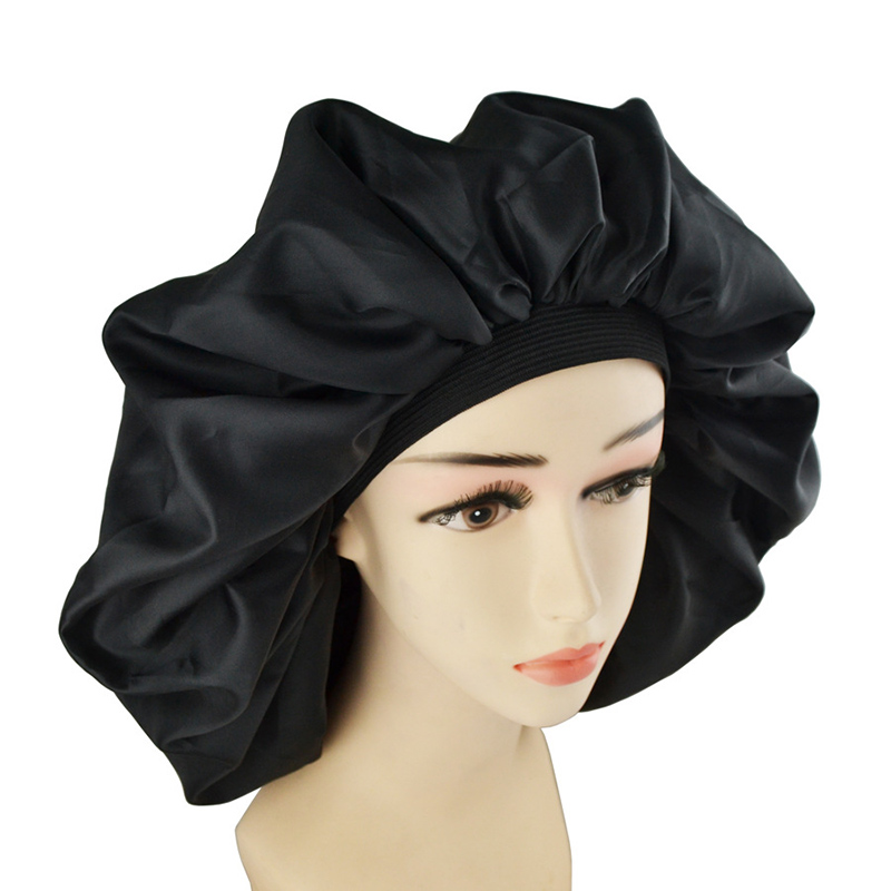 Hot Super Jumbo Sleep Cap Waterproof Shower Cap Women Hair Treatment Protect Hair From Frizzing CNT 66