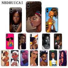 NBDRUICAI Black Women Art And little girl fashion Phone Case Cover for iPhone 11 pro XS MAX 8 7 6 6S Plus X 5 5S SE XR case nbdruicai black women art and little girl fashion phone case cover for iphone 11 pro xs max 8 7 6 6s plus x 5 5s se xr case