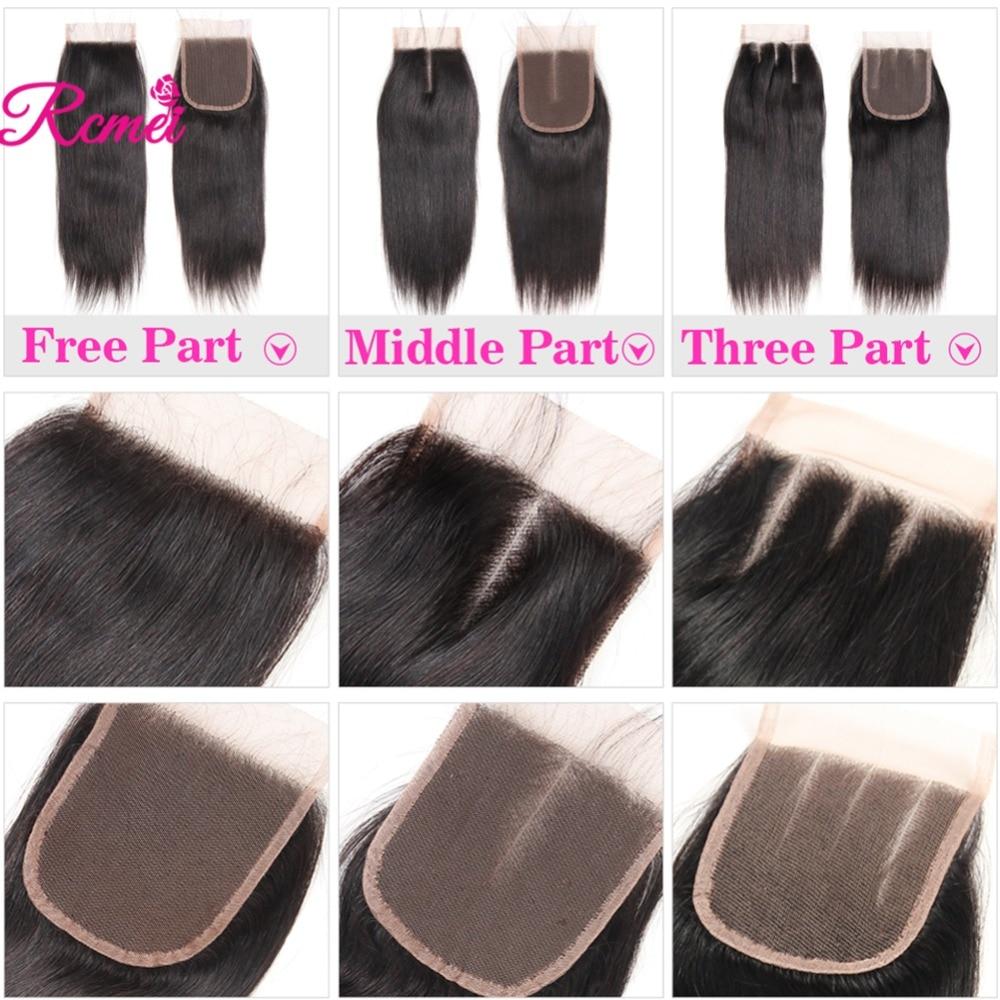 Hdeeb6263a8e64a61a120dc97d621eb02W Brazilian Straight Human Hair Weave Bundles with Closure 3 Bundles With Lace Closure 4*4 Remy Human Hair Bundles Extensions