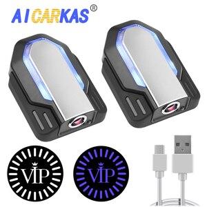 Image 1 - AICARKAS 2 個 3D ダイナミックライト Led 車のドアライト自動周囲 Bmw アウディプジョーボルボカーアクセサリー