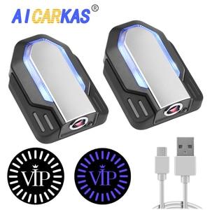 Image 1 - AICARKAS 2PCS 3D דינמי צל אור LED רכב דלת אור אוטומטי בברכה הסביבה אור עבור BMW אאודי Peugeot Volvo אביזרי רכב