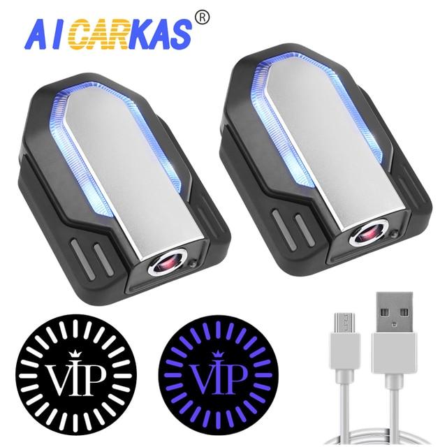 AICARKAS 2PCS 3D דינמי צל אור LED רכב דלת אור אוטומטי בברכה הסביבה אור עבור BMW אאודי Peugeot Volvo אביזרי רכב