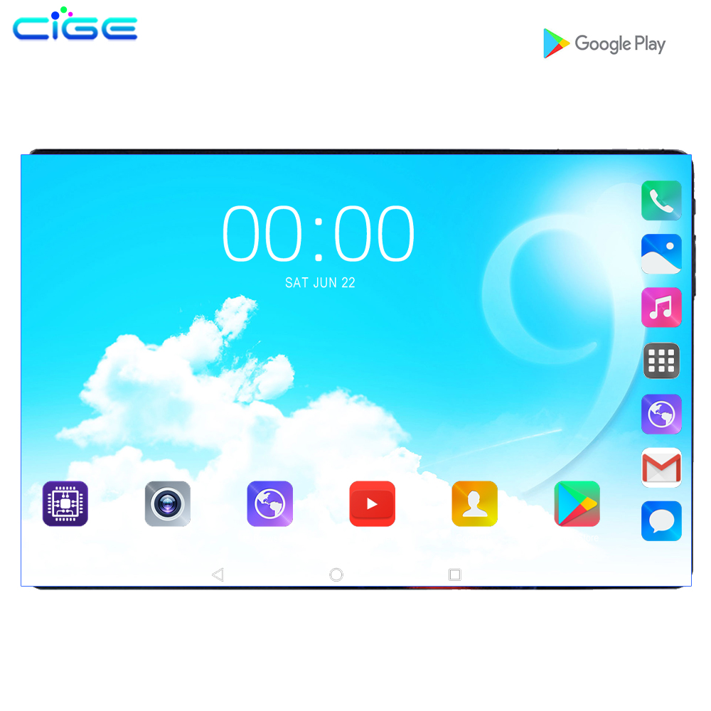 10.1 Inch Tablets Android 9.0 Octa Core 6GB RAM 128GB ROM 3G 4G FDD LTE Wifi Bluetooth GPS Phone Call Glass Screen Tablet Pc