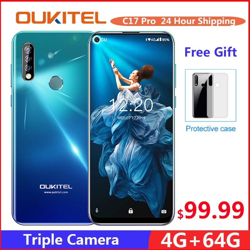 OUKITEL C17 Pro 6.35'' Android 9.0 19:9 MT6763 4GB 64GB Smartphone Face ID Octa Core 3900mAh Triple Camera 4G Mobile Phon Cellphones     - title=
