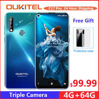 OUKITEL C17 Pro 6.35'' Android 9.0 19:9 MT6763 4GB 64GB Smartphone Face ID Octa Core 3900mAh Triple Camera 4G Mobile Phon