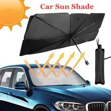 Osłony przeciwsłoneczne do Car Sun Shade samochodu osłona przeciwsłoneczna Parasol słoneczny Parasol Protable przednie okno samochodu osłony przeciwsłoneczne akcesoria termoizolacyjne tanie tanio CN (pochodzenie) UPE alloy + impact cloth + titanium silver glue car sun shade for windshield car windshield sun shade sun shade for car windshield