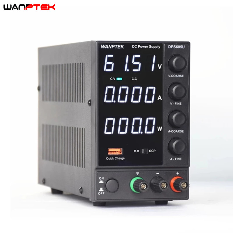 Fuente de alimentación de laboratorio DC 30V 10A, ajustable por USB, estabilizador y regulador de voltaje, fuente de alimentación conmutada