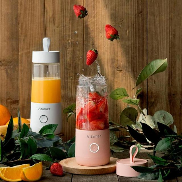 350ml Mini Portable Electric Fruit Juicer USB Rechargeable Smoothie Maker Blender Machine Sports Bottle Juicing Cup Dropshipping Appliances Consumer Electronics