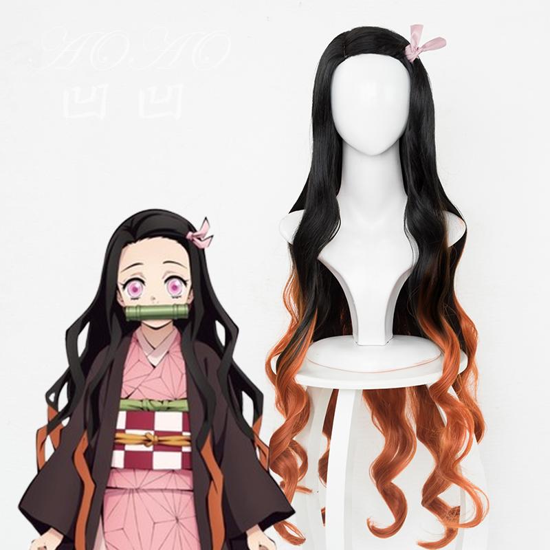 peluca para cosplay nezuko