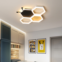 Modern LED Bedroom ceiling chandeliers for Children's toy room Creative personality Black and White pink kid room chandelier