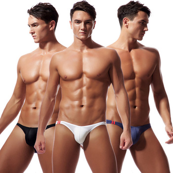 Men's Panties Sexy Ice Silk Briefs Men Underpants Mens Low Waist U Convex Bag Underwear Male Elastic Breathable Underwear dj bag palmin u 15