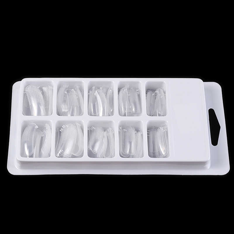 20/100Pcstransparent Quick Building Mold Tips Nail Dual Vormen Vinger Extension Groothandel Nail Art Uv Builder Gel Tool