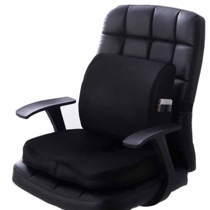 Pad Massage-Chair Seat Back-Cushion Memory-Foam Coccyx Orthopedic