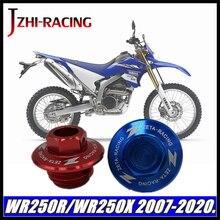 YAMAHA WR250R WR250X WR250 R/X 2007 2020 motosiklet aksesuarları CNC motor yağı kapağı somun.