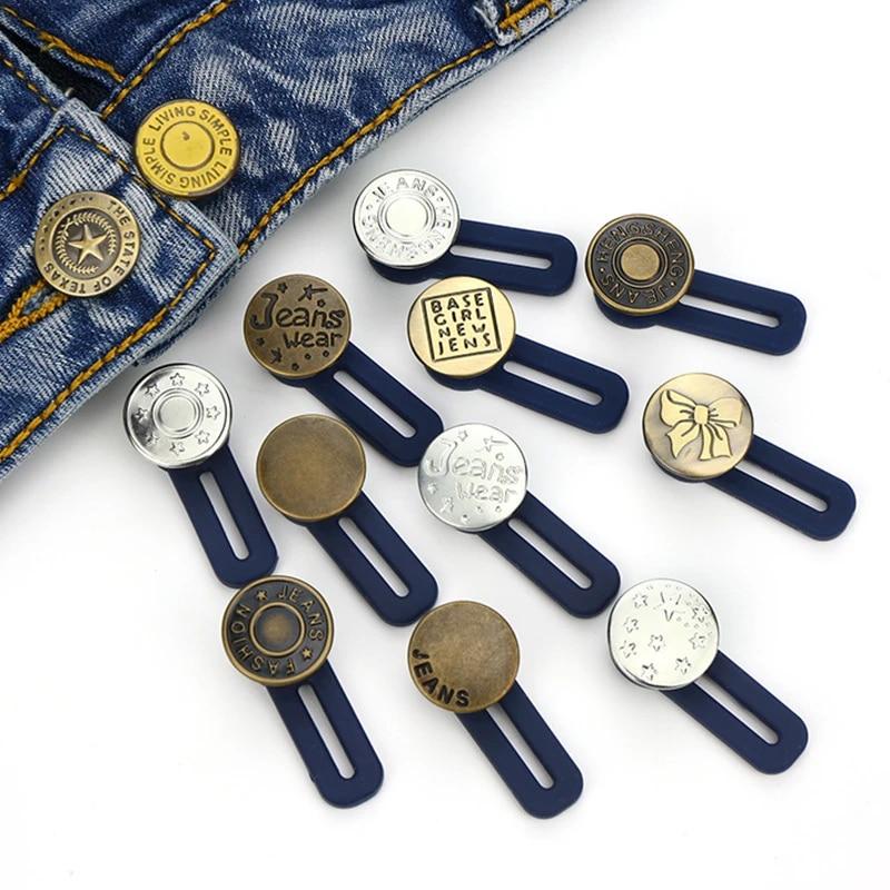 XINJIA Jeans Button,Pants Extender Button,Clothing DIY Retractable Button,3//10Pcs Jeans Retractable Button Adjustable Detachable Extended Button for Jeans