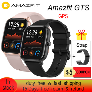 Image 1 - Amazfit GTS Smart Watch 5ATM Water Resistantce and Professional Swim Tracking Sport Watch All day heart rate 14days Battery life
