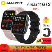 Amazfit GTS Smart Watch 5ATM Water Resistantce and Professional Swim Tracking Sport Watch All day heart rate 14days Battery life