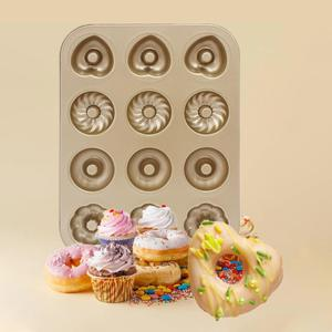 Image 4 - Baking Pastry Tool Carbon Steel Donut Mold Doughnut Mold  Baking Pan Baking Tray Chocolate Cake Mold Kitchen Bakeware DIY Tools