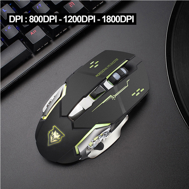 Wireless mouse Rechargeable Gaming Mouse Mute Luminous  2.4Ghz Opto-electronic Computer Mouse Accessories Desktop laptop mouse 2