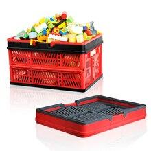 Foldable Shopping Basket Large Folding Car Picnic Storage  Laundry Bucket Home Kids Dog Toys Clothes Organizer