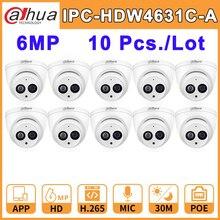 Venta al por mayor 10 uds/mucho DH IPC HDW4631C A Dahua cámara de red IP casa IPC HD 6MP CCTV IR30M noche visión construido en el Mic IP67 Onvif
