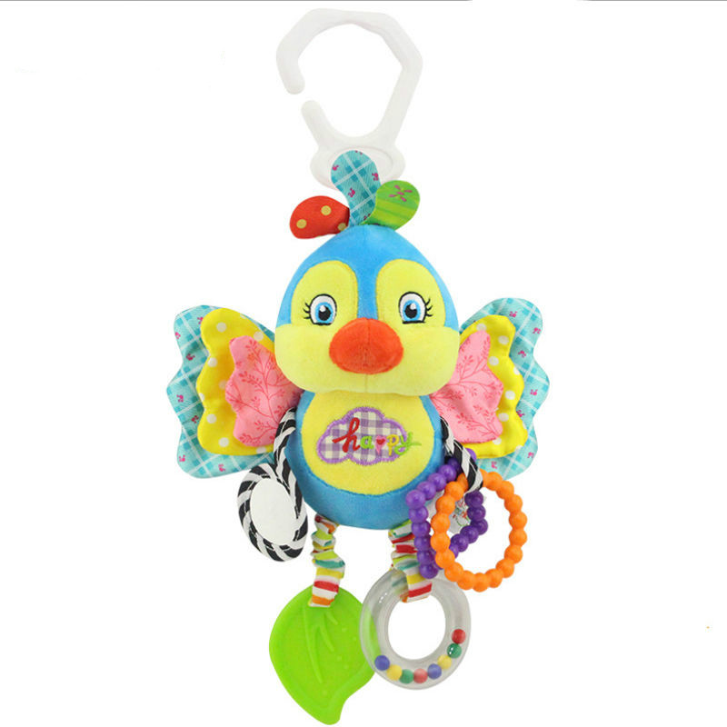 Baby Kids Stroller Bed Around Hanging Bell Rattle Activity Soft Plush Animal Toys Rabbit Bird Butterfly