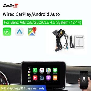 Carlinkit Apple Carplay Android Auto Box dla mercedesa NTG4.5 2012-2014 iOS 13 Mirrorlink dla Benzs multimedialna inteligentna modernizacja samochodu