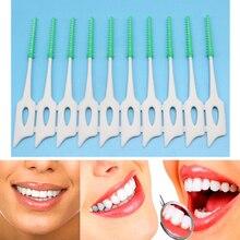 20/200PCS Dental Floss Interdental Brush Teeth Stick Dental Flosser Toothpick Silicone