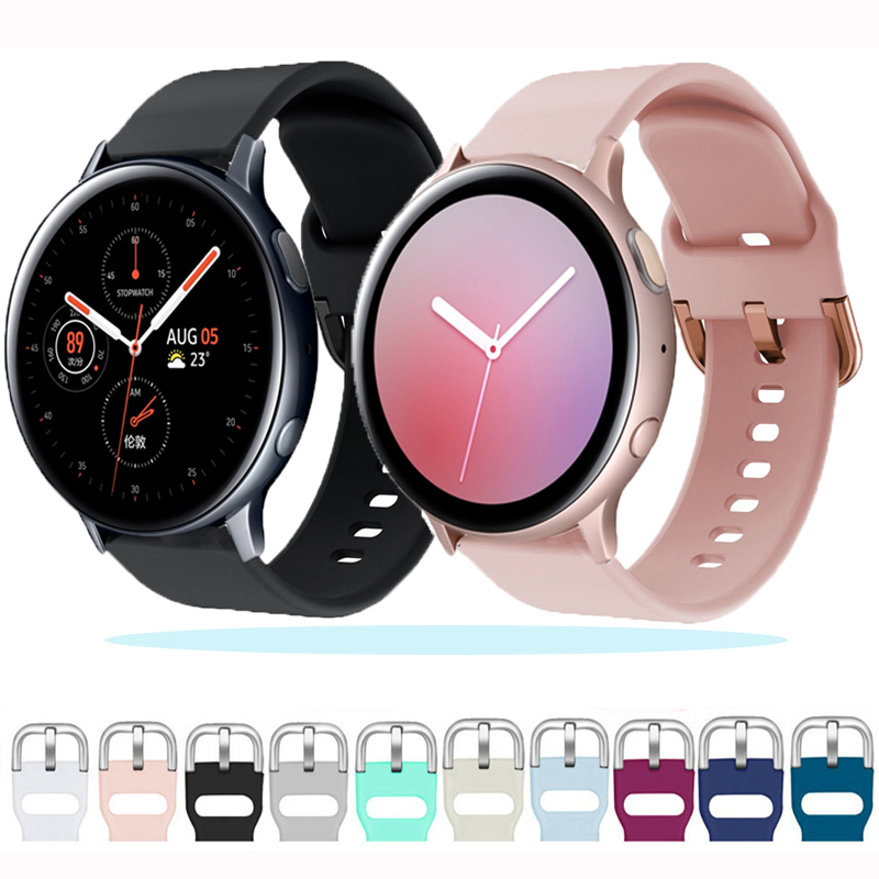 20/22mm Band For Samsung Galaxy Watch Active2/Active/46mm/42mm/ Strap Gear S3/S2/Sport Silicone Bracelet Huawei Watch GT