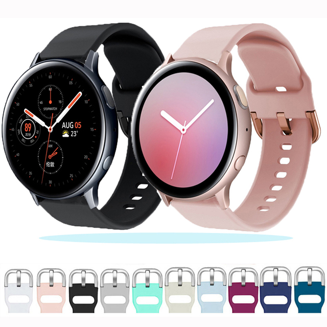 20mm 22mm watch strap For Samsung Galaxy watch 46mm 42mm Active2 Active1 Gear S3 frontier silicone nato Huawei watch band