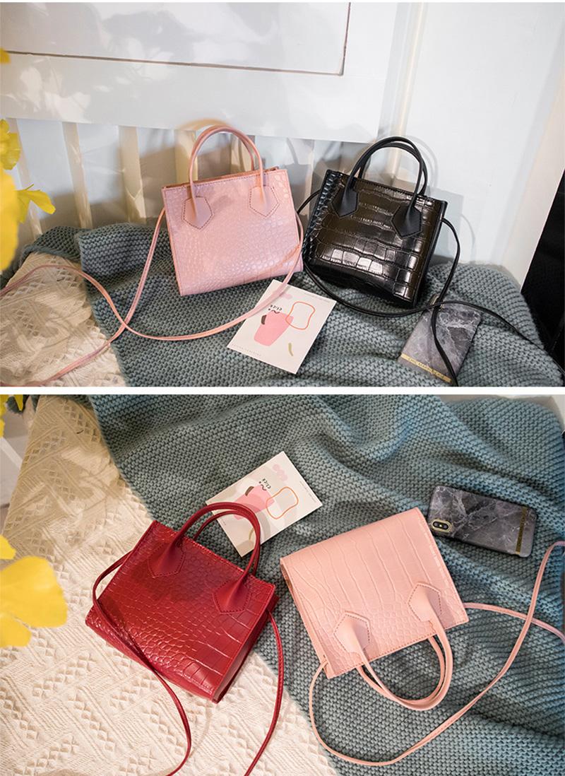 Трендовые модные женские сумки через плечо с крокодиловым узором