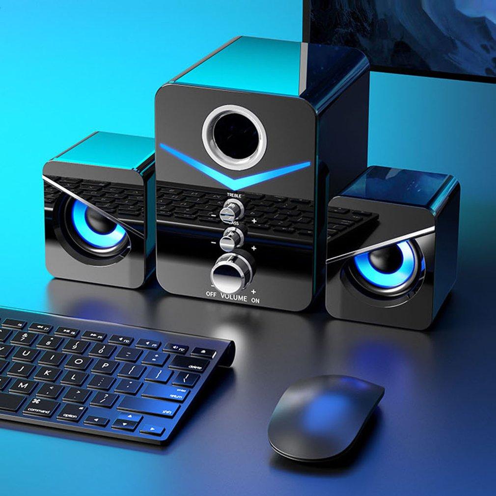 Computer Audio Desktop Durable  Speaker USB Desktop Notebook Phone LED Light subwoofer Bluetooth Speakers Wireless Edition
