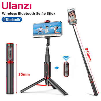 Ulanzi SK-01 3 in 1 Wireless Bluetooth Selfie Stick Foldable Tripod Expandable Monopod with Remote Control for iPhone Android