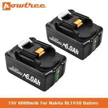 3.0/4.0/6.0/9.0 ah substituição recarregável de íon de lítio para makita 18v bateria bl1850 bl1830 bl1860 lxt400 furadeiras sem fio l50