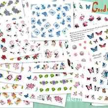 Лидер продаж! 50 листов, переводные наклейки для дизайна ногтей с разными цветами