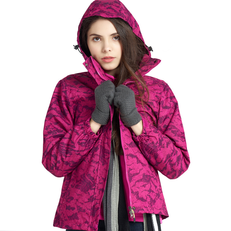 Outdoor Raincoat Jacket Men's And Women's Popular Brand Jacket Three-in-One Plus Velvet Thick Fleece Lined Windcheater