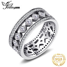 Jewelrypalace 925 Sterling Silver Vintage enchantment Hollow-out Cocktail Ring Round Fashion Jewelry Steel Rings For Woman/Girls(China)