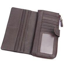 Long Simple Purse Men Wallet Business Men's Genuine Leather
