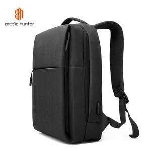 Image 2 - ARCTIC HUNTER New USB Laptop Mens Backpack Waterproof Leisure Bag Sport Travel Business Notebook Male Bag Schoolbag Pack