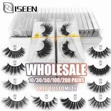 Atacado cílios 10/20/30/40/50/100/200 pçs 3d vison cílios naturais cílios falsos maquiagem extensão cílios em massa livre personalizar