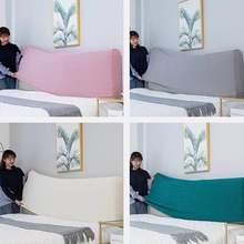 Polar Fleece Fabric All inclusive Headboard Covers Pink Bedspread Soft Dust Back Protective Elastic Cloth All