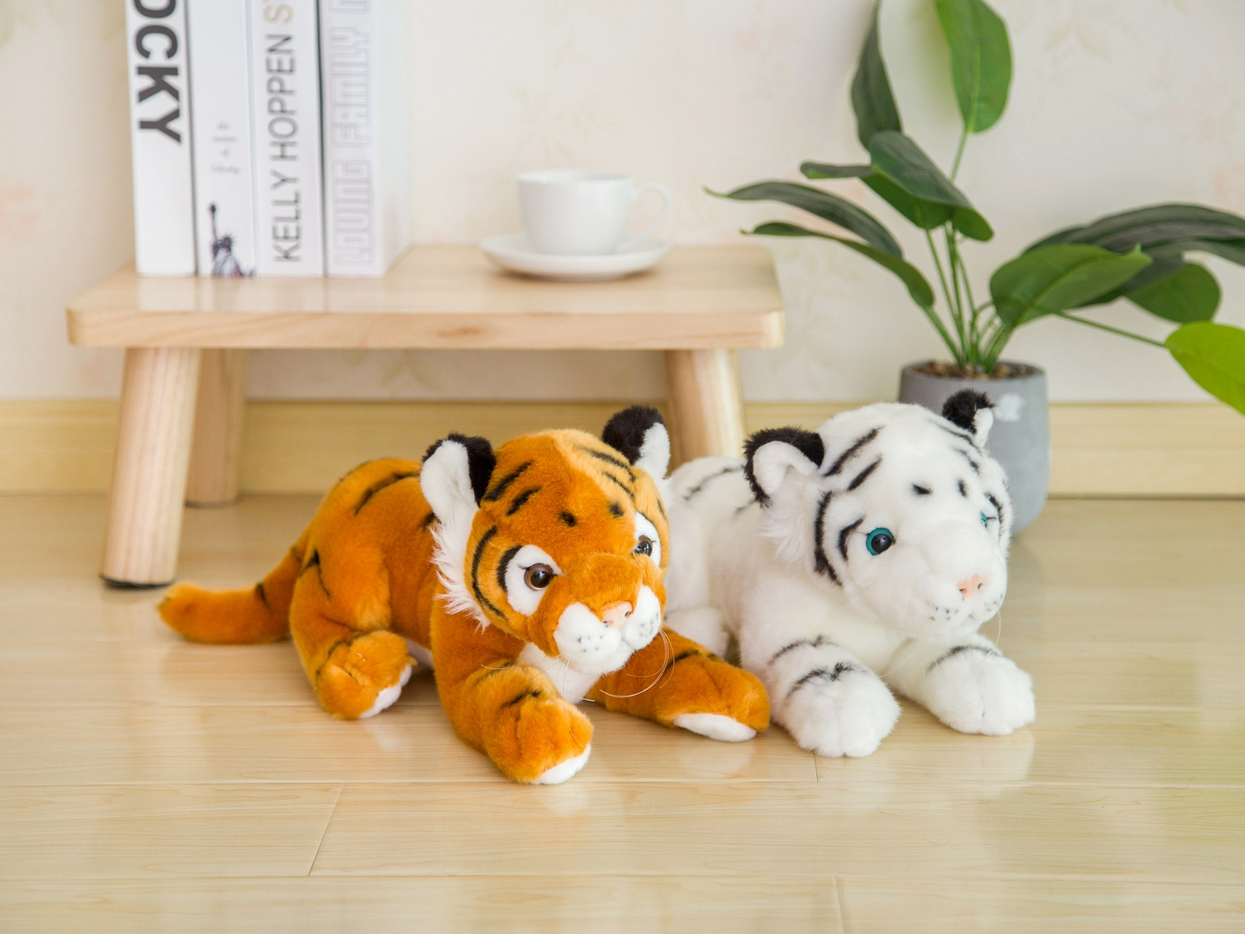 Simulation Leopard Plush Toy Jaguar Soft Stuffed Animals Doll Leopard Kids Gift