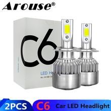 2 pçs h7 h11 h1 h3 cob carro led farol lâmpadas h4 hi lo feixe 72w 8000lm 6000k auto farol 9005 hb3 9006 hb4 880 led luz do carro