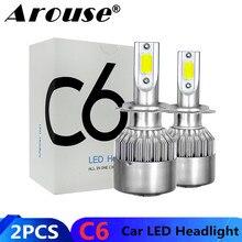 2PCS H7 H11 H1 H3 COB רכב LED פנס נורות H4 Hi Lo קרן 72W 8000LM 6000K אוטומטי פנס 9005 HB3 9006 HB4 880 Led רכב אור
