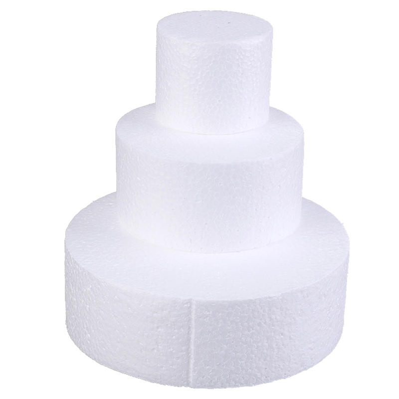 Round Styrofoam Foam Cake Dummy Modelling Sugarcraft Flower Wedding Decor